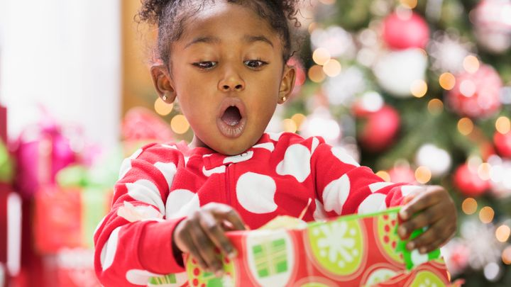 Young children can't really grasp the idea that if someone gave them a gift, it took thought and generosity. That comes as they get older.