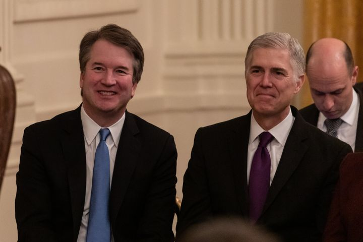 """Trump likes to refer to justices Brett Kavanaugh and Neil Gorsuch as """"my judges."""""""