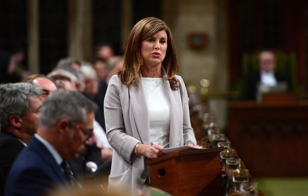 Rona Ambrose asks a question during question period in the House of Commons on May 16, 2017. There has...