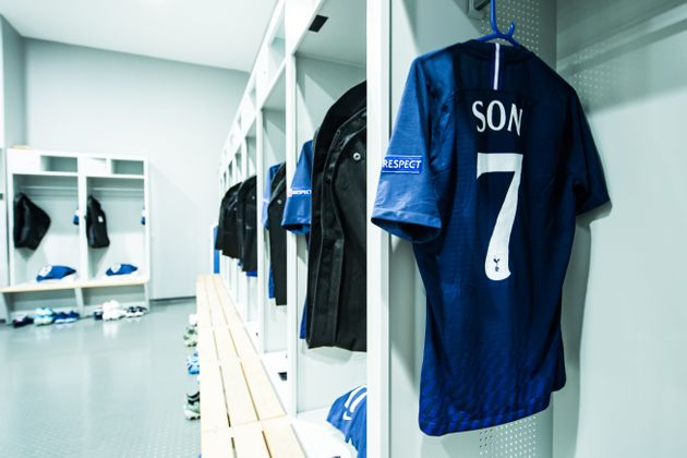 MUNICH, GERMANY - DECEMBER 11: The jersey of Heung-Min Son of Tottenham is seen in the dressing room...
