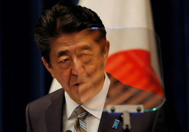 Japan's Prime Minister Shinzo Abe as he speaks at a news conference in Tokyo, Japan, December 9,