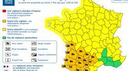 16 départements placés en vigilance orange pour vent, pluie, inondation et vagues