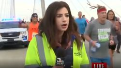 Maratoneta molesta reporter in diretta tv e viene radiato a vita dalle corse