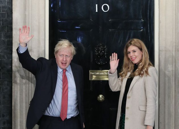 Prime Minister Boris Johnson and his girlfriend Carrie Symonds, Downing