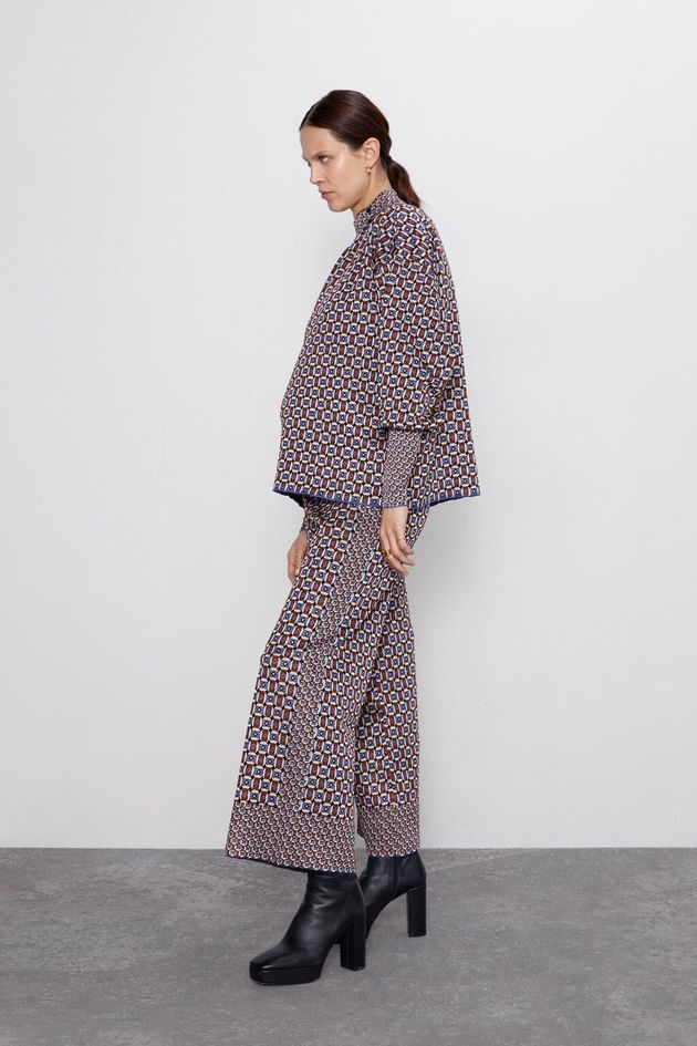 Jacquard Culottes and Knit Top Co-ord, Zara, £29.99