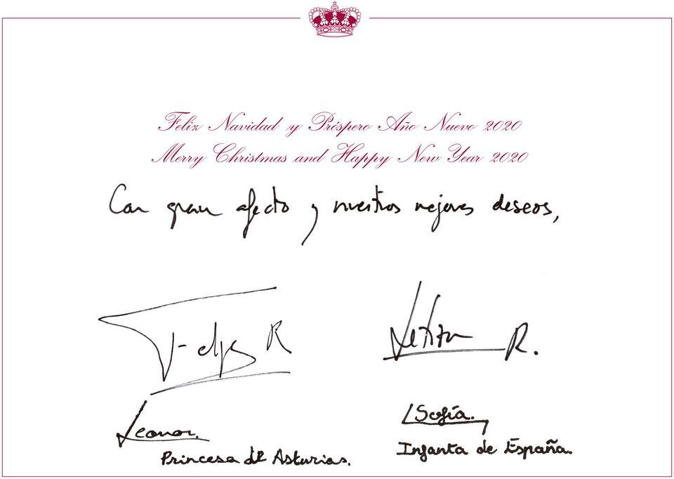 Felicitación de Navidad de los reyes de