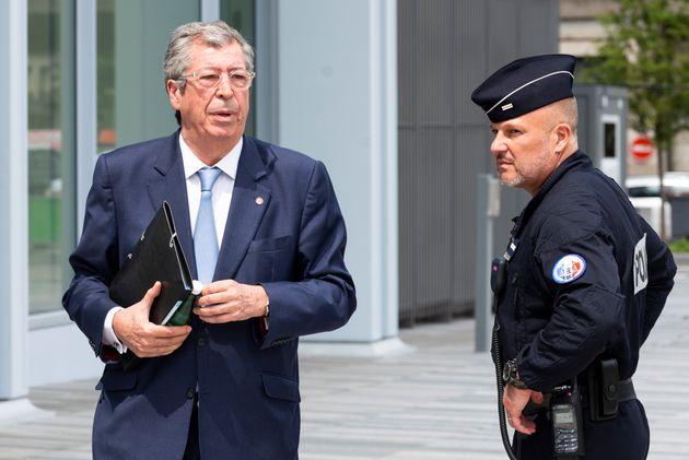 Patrick Balkany, maire de Levallois-Perret (Hauts-de-Seine), lors de son procès en mai