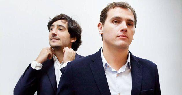 El exlíder de Ciudadanos Albert Rivera y exdiputado naranja Antonio Roldán en segundo
