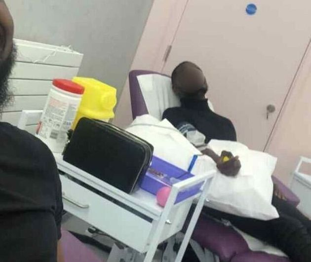 This photograph of an alleged SPAC Nation giving blood was circulated around WhatsApp groups linked to...
