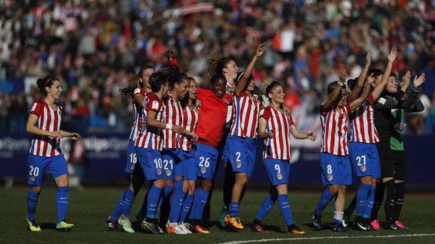 El Atlético de Madrid celebra su título de