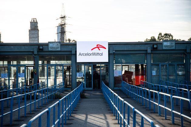 TARANTO, ITALY - NOVEMBER 29: General view of the Arcelormittal plant on November 29, 2019 in Taranto,...