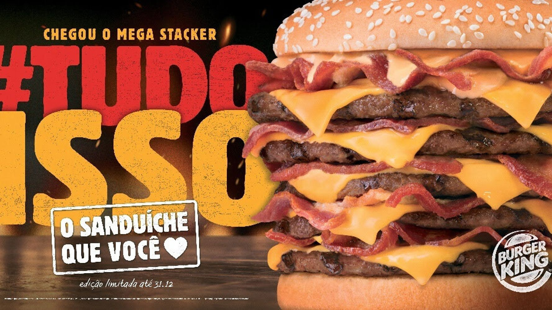 calorias de um lanche do burger king