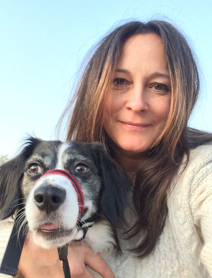 Nina McCollum and her dog, Indigo.