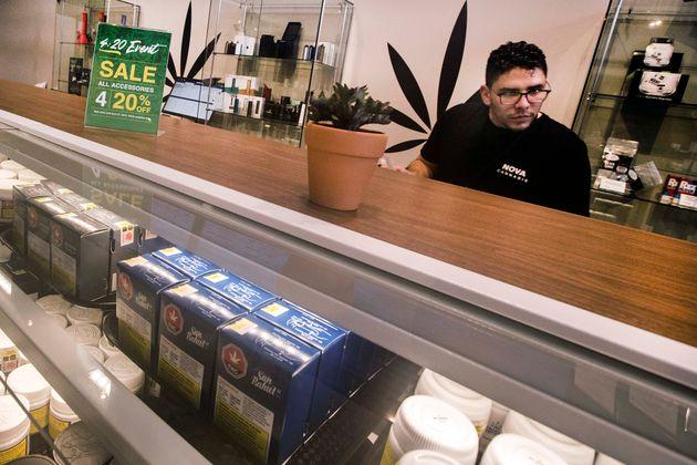 Nova Cannabis opens its doors in Toronto on April 20,