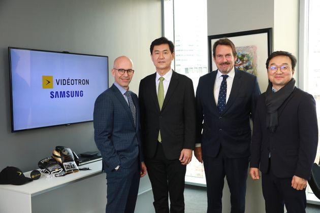 Jean François Pruneau, président et chef de la direction de Vidéotron, Paul Kyungwhoon...