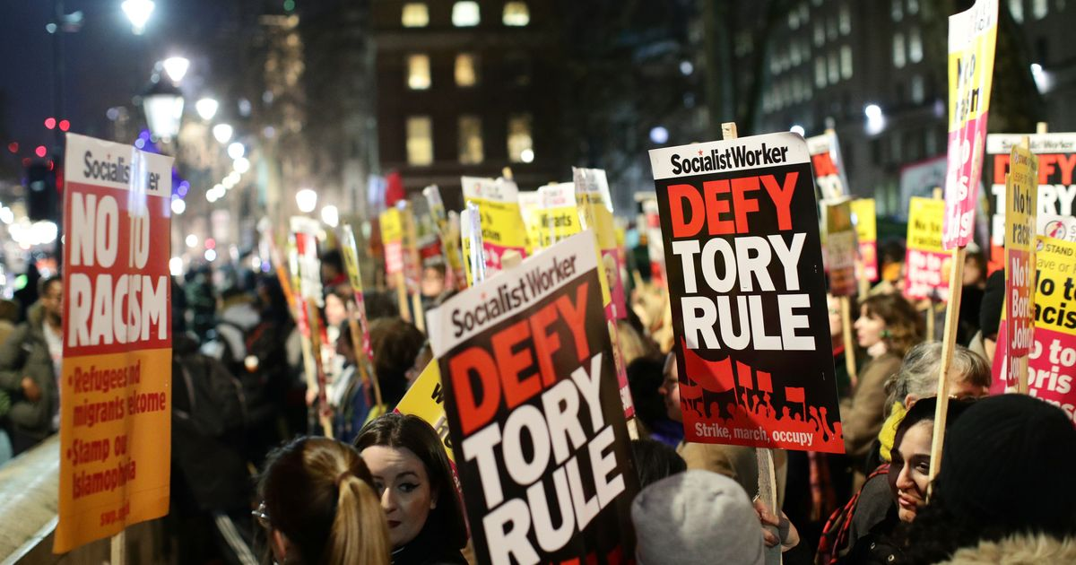 Watch As Anti-Boris Johnson Protesters March Against Election Result