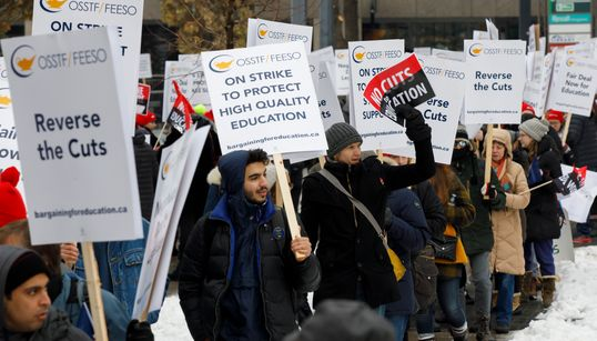 Ontario High School Teachers Plan 1-Day Strike For 3rd Week In A
