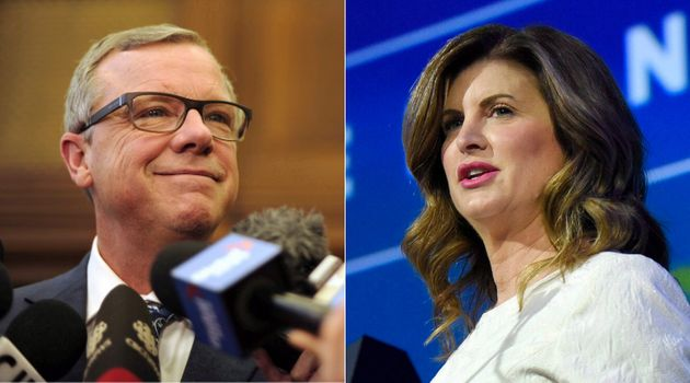 Former Saskatchewan premier Brad Wall and former interim Conservative leader Rona Ambrose are shown in...