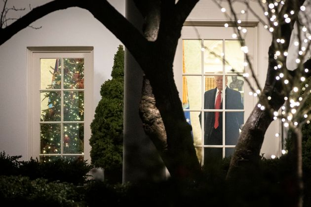 Trump under a cloud of Yuletide gloom.