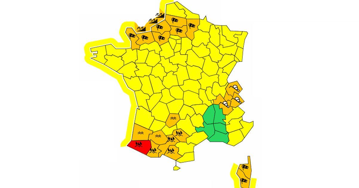 Face à la tempête, Météo France place 7 départements du nord en alerte orange