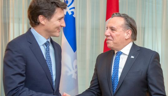 Legault et Trudeau évitent les