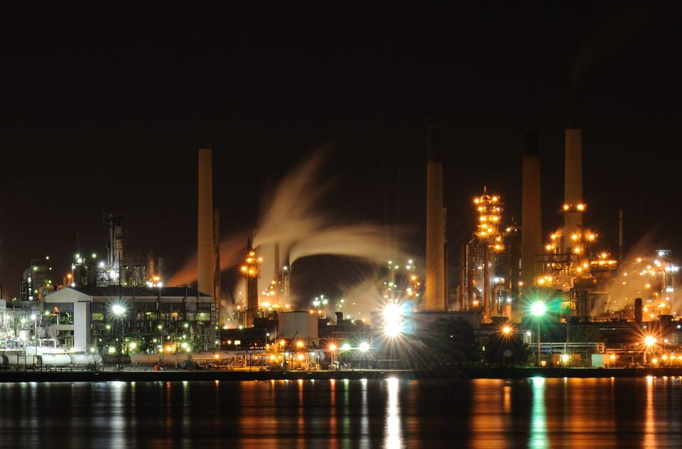 The Imperial Oil refinery in Sarnia, Ont., April 11,