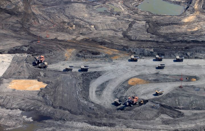 Oilsands mining operations at the Syncrude project near Fort McMurray, Alta., June 13, 2017.