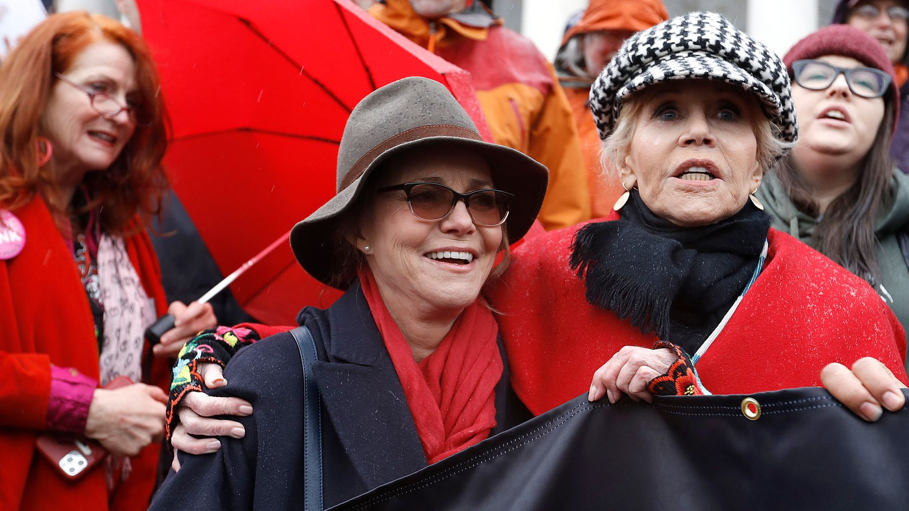 Sally Field Arrested At Jane Fonda's Climate Change Protest In Washington