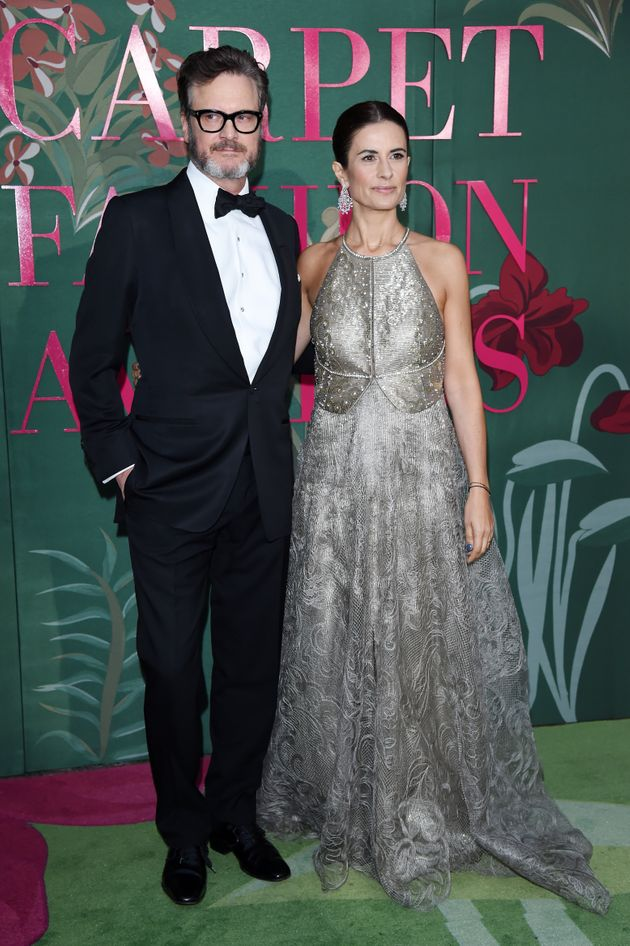 MILAN, ITALY - SEPTEMBER 22: Colin Firth and Livia Firth attend the Green Carpet Fashion Awards during...