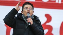 자유한국당이 광화문 세종문화회관 앞에서 장외투쟁을