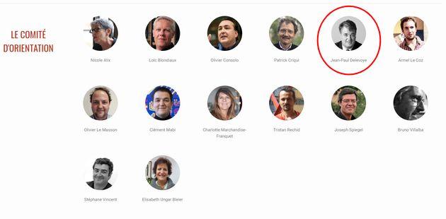 Capture d'écran du site de l'Institut de recherche et débat sur la
