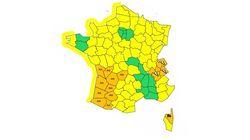 Quatorze départements en vigilance orange pour inondations, vents violents et