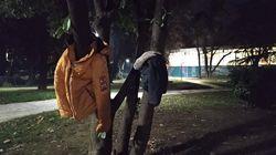Έδεσσα: Μπουφάν κρεμασμένα σε δέντρα για να μη μείνει κανείς μόνος στο