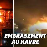 Les images impressionnantes de l'incendie de Total près du