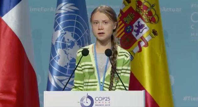Greta Thunberg durante la Cumbre del Clima de