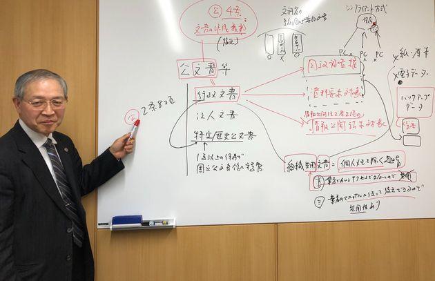 三宅弘弁護士=2019年12月、東京都新宿区