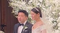 수현과 전 위워크 대표 차민근의 결혼식이 공개됐다