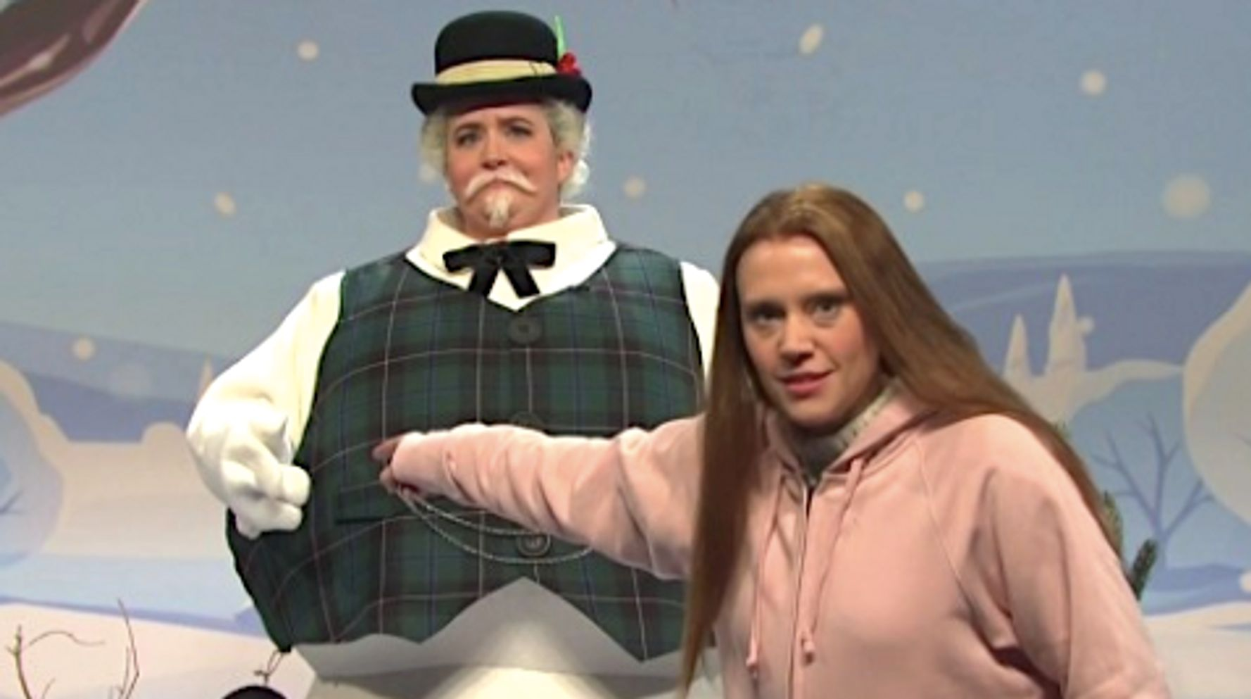 Westlake Legal Group 5df5c60a240000f10c5a353e Kate McKinnon's Greta Thunberg Tells Trump To GROW UP In 'SNL' Spoof On Divided America