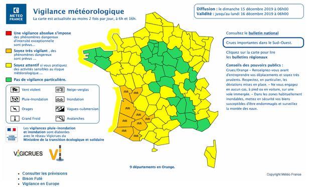 Au moins 2 morts dans les intempéries dans le sud-ouest, 9 départements en vigilance