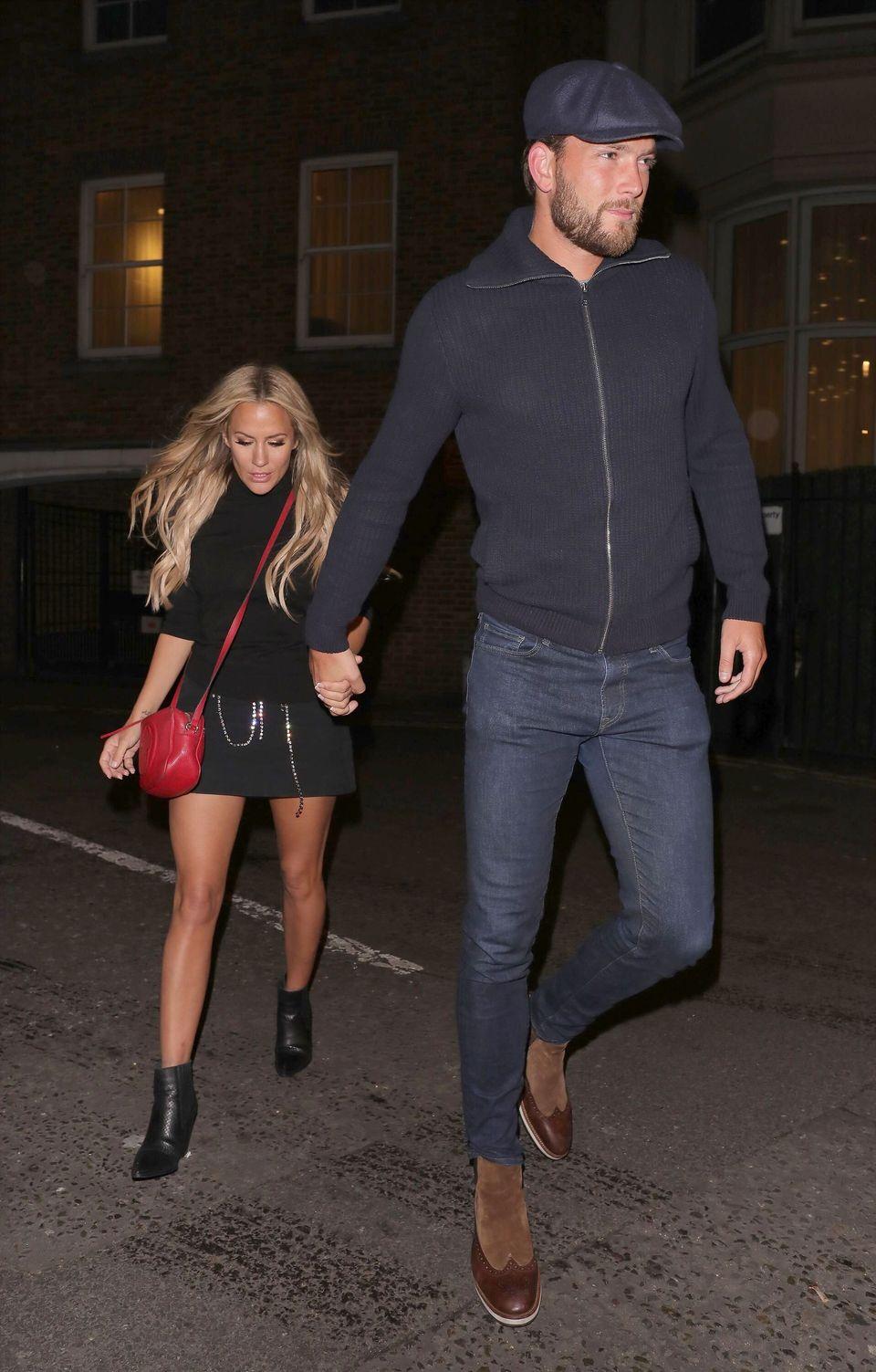 Caroline Flack with boyfriend Lewis