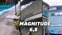 Les images du séisme de magnitude 6.8 qui a fait trembler les