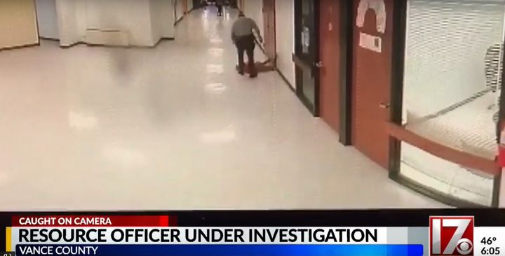 A Vance County sheriff's deputy is on leave after video captured him appearing to assault a child at a local middle school.