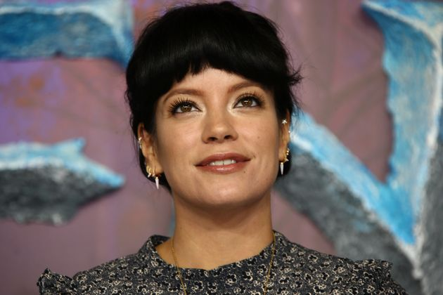 Singer Lily Allen poses for photographers upon arrival at the European premiere of 'Frozen 2', in central...