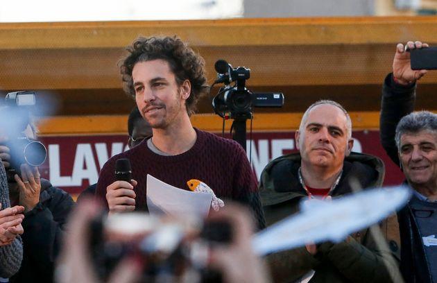 14/12/2019 Roma, manifestazione del movimento delle Sardine in piazza san Giovanni