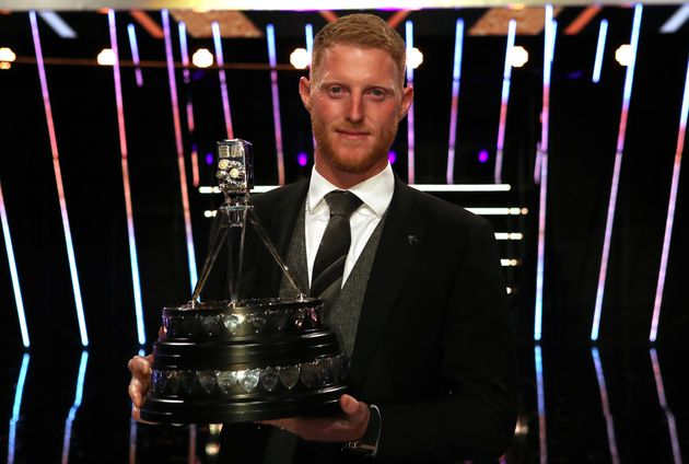Ben Stokes poses with The BBC Sports Personality of the Year Award during the BBC Sports Personality...