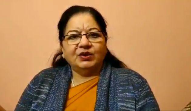 Jamia VC Najma Akhtar in a screenshot of the video