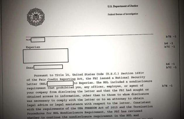 FBI、信用情報機関に消費者情報を要求していたことが明らかに。