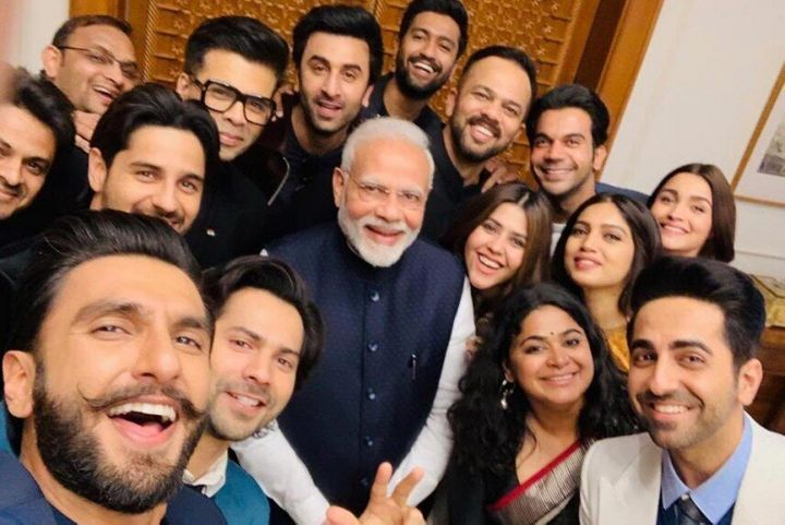 Bollywood stars hanging out with Modi