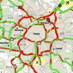 Face à la pluie et à la grève, les bouchons explosent à Paris avec plus de 600