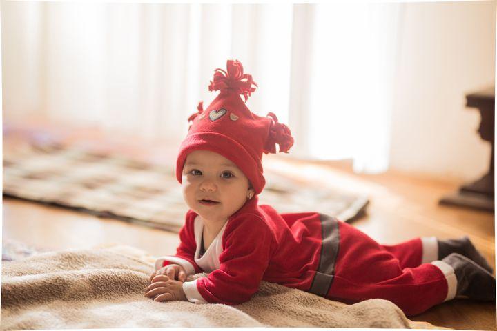 Cute Christmas baby girl